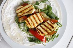 Rezept: Halloumi-Wraps mit gegrilltem Gemüse - Lavendelblog