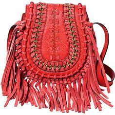 Aimee Kestenberg Handbags Genny Crossbody - Rouge Red - Crossbody Bags ($142) ❤ liked on Polyvore featuring bags, handbags, shoulder bags, red, hand bags, purse shoulder bag, handbag purse, fringe purse and fringe purse crossbody