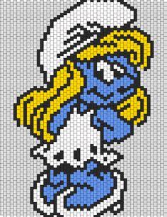 Smurfette bead pattern