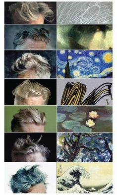 David Lynch's hair as Fine Art