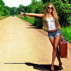 Simply hitch hiking blonde dp clearly was