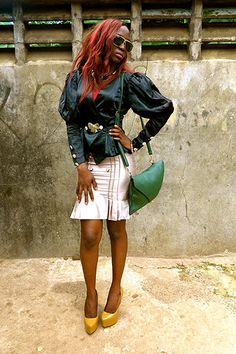 Pictures of the week: Freetown Fashion by Jo Dunlop Pictures Of The Week, Sierra Leone, Unique Fashion, Leather Skirt, Personal Style, Africa, Glamour, October, Photograph