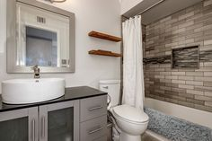 A simple 2nd bathroom transformation is a great touch for your home. Sometimes the simple changes in a bathroom make the biggest differences.   American Construction & Renovation 480-404-3033 AmericanConstructed.com #AmericanConstructed