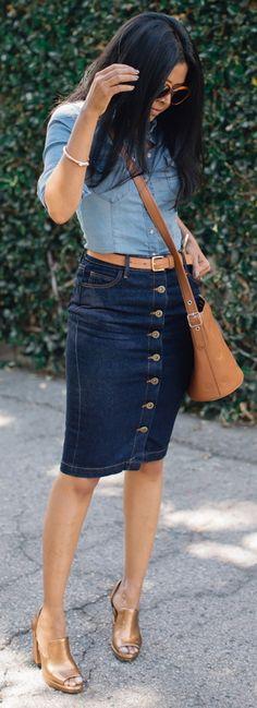 Top: H&M / Skirt: Just Fab / Shoes: Madison Harding / Bag: Coach / Belt: Linea Pelle (on Sale)/ Bracelet: Miansai / Sunglasses: BCBG