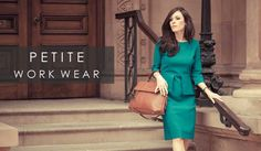 Petite Work Wear is now in store at Pinstripe & Pearls.  The model in this image is wearing the gorgeous Davina Teal Work Dress by Jeetly.   http://www.pinstripeandpearls.com/women/petite