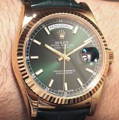 The Rolex Day-Date II watch came out a few years ago that upped the famous Rolex Day-Date to a 41mm wide, versus 36mm wide case size.