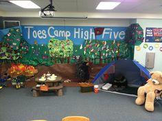 Trinity Oaks team huddle environment setup. We love it!