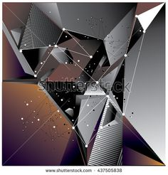 Abstract modern triangles background pattern illustration. Space layout and design template. Composition of pattern design. - stock vector