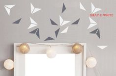 Wide Triangle Black Gray White Wall Decals Decor Stickers