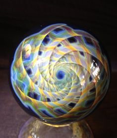 Vortex Infinity Marble by SandSpiritGlass on Etsy, $135.00