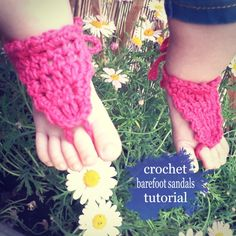 Crochet with me these cute baby barefoot sandals -all sizes- all you need is a crochet hook 3.00mm, cotton yarn and love❤