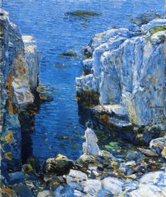 """The Isles of Shoals"" by American Impressionist painter, Fredrick Childe Hassam, c. 1912."