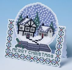 A unique 3D cross stitch Christmas card - love this kit to stitch                                                                                                                                                     More