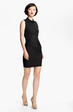 Carven Woven & Wrap Jersey Dress available at #Nordstrom