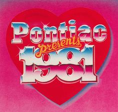 This 1981 design has sparkling elements on the lettering that were used quite often in graphics. Typography Letters, Typography Design, Lettering, Retro Typography, Aesthetic Vintage, Pink Aesthetic, Photo Wall Collage, Picture Wall, Typographie Fonts