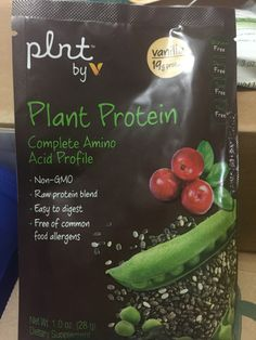 Plant protein by V Delightfully refreshing than the other proteins in this #VitaminShoppe #ReviveVoxBox