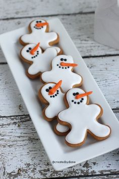 Snowman Gingerbread Boys   Created by Diane