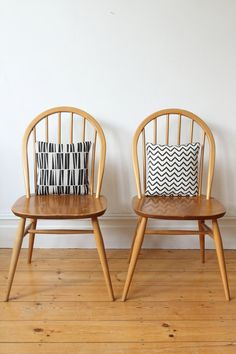 SOLD Pair of vintage Ercol Windsor chairs by OwlAndTheElephant Patio Chair Cushions, Patio Chairs, Orange Accent Chair, Accent Chairs, Ercol Chair, Teal Walls, Vintage Chairs, Oversized Chair, Chairs