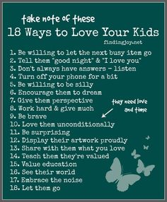18 Ways to Love Your Kids