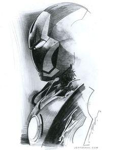 Iron Man by Jeff Dekal Avengers Drawings, Avengers Art, Iron Man Drawing, Iron Man Art, Marvel Tattoos, Man Sketch, Marvel Fan Art, Iron Man Tony Stark, Comic Book Artists