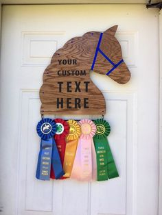 Customized Horse Show Ribbon Display /Award, 1 Ribbon Tier