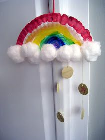 Rainbow Art & Craft Appropriate for toddlers, pre-k, kindergarten and preschool.  Nice activity for St. Patrick's Day, Spring, or studying rainbows and colors.