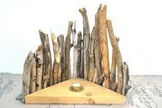 Schönes Deko-Objekt aus Strandhölzern mit Teelicht von SchlueterKunstundDesign - Wohnzubehör, Unikate, Treibholzobjekte, Modeschmuck aus Treibholz auf DaWanda.com
