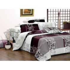 Swanson Beddings May Cotton Bedding Set: Duvet Cover and Two Pillow Shams (Queen)