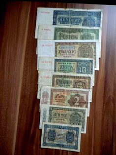 Satz Banknoten DDR 1948,