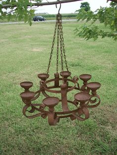 32 Wrought Iron Grand Candle Chandelier For Outdoors Candles
