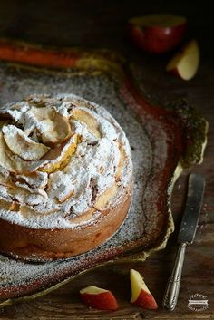 Torta di mele e cannella food photography