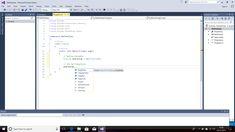 Screenshot of Using IntelliSense to Display Properties and Methods for the Defined Class.  Programming Language - C#.  Text Editor - Visual Studio 2015 (Windows 10).  Taken on 29 December 2017.