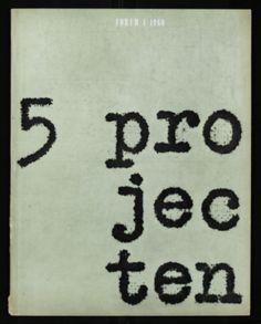 Jurriaan Schrofer, Forum, 1 1960, 5 projecten, 1960