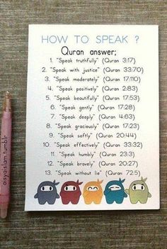 Quranic guidelines on how to speak