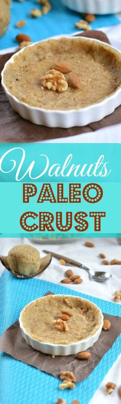 Walnuts Paleo Crust. Walnuts are full of heart healthy fats and are perfect to make #grainfreecrust #crust #grainfree #glutenfreecrust #paleo #sugarfreecrust #walnuts #walnutcrust