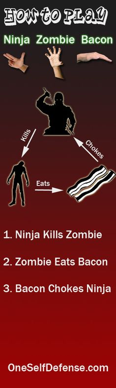 How to play Ninja Zombie Bacon @Renee S. I think we just figured out a much more fun way to decide who does what in the office!