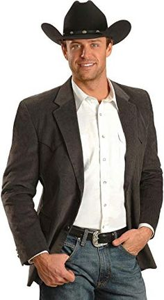 Circle S Corduroy Sport Coat - Short, Reg, Tall, Grey Mens Western Suits, Western Sport Coat, Mens Sport Coat, Western Chic, Western Wear, Western Theme, Cowboy Western, Sport Coats, Cowboy Outfit For Men
