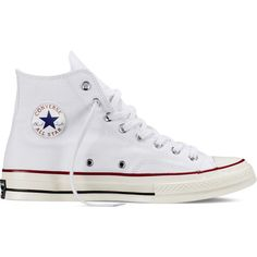 Converse Chuck Taylor All Star ˜70 – white/egret/black Sneakers ($85) ❤ liked on Polyvore featuring shoes, sneakers, converse, zapatos, converse sneakers, white shoes, star sneakers, converse trainers and black trainers