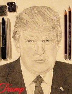 Donald J. Trump, President of the United States of America, Pencil Sketch / Graphite Pencil Drawing. I am a Freehand Pencil Sketch Artist. Pencil Sketching is one of my favorite things to do. Once I start a picture to draw, I don't want to stop drawing. Pencil Sketching, Pencil Drawings, Current President, Pictures To Draw, Donald Trump, Presidents, Favorite Things, United States, The Unit