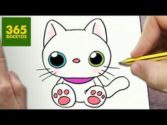 COMO DIBUJAR GATO KAWAII PASO A PASO - Dibujos kawaii faciles - How to draw a CAT - YouTube