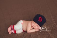 Baby Boy The Original baseball set cap and pants by LandyKnits