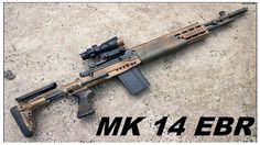 Springfield with MK 14 EBR stock system. Airsoft Guns, Weapons Guns, Guns And Ammo, M1a Socom, Springfield Pistols, Battle Rifle, Military Weapons, Firearms, Shotguns