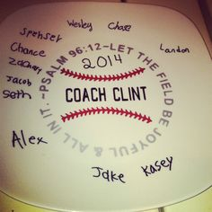 Baseball Coach gift on Etsy, $20.00