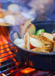 Cooking While Camping - Top Tips!  Pretty good post, with lots of helpful tips...  I mean, not that I need them...  Because I pretty much know everything there is to know about...  Umm, what was I talking about?