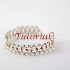 Beaded Bracelet Tutorial Ribbon Lace by JewelryTales on Etsy, $5.00 Love it! Must try! #ecrafty