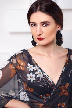 Flamenca earring- BLACK