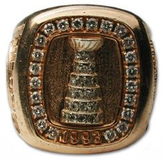 """Montreal Canadiens """"The Habs"""" - 1993 Stanley Cup Ring Montreal Canadiens, Stanley Cup Rings, Hockey Boards, Hockey Memes, Montreal Ville, Ice Castles, Championship Rings, National Hockey League, Nhl"""