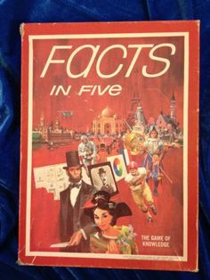 Avalon Hill Facts in Five Bookcase Board Game Complete 70s 1970s 1976 |