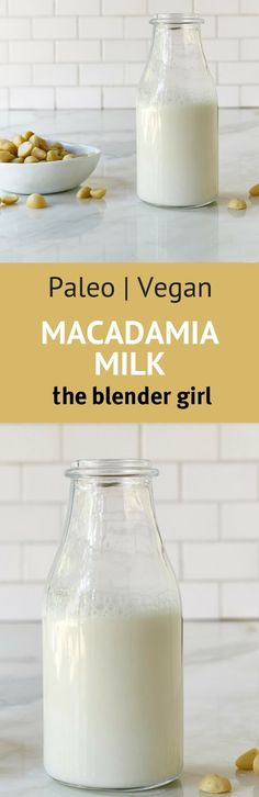 Make raw homemade macadamia milk in minutes in your blender for use in smoothies, shakes and other healthy recipes.