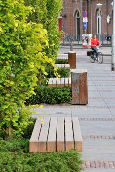 Litter bin & streetbench by Grijsen park & straatdesign - Location: Winterswijk, Netherlands - www.grijsen-international.com